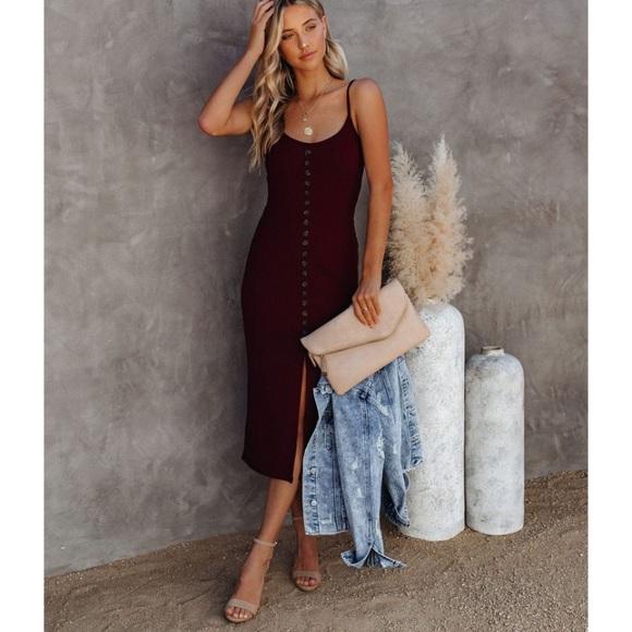 Scarlett Ribbed Knit Midi Dress from VICI